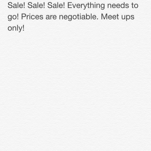 SALE! EVERYTHING MUST GO