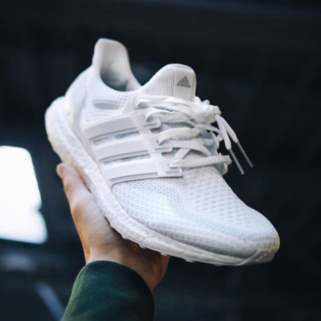 7e5f5aaf0ef56 SALES  Authentic Adidas Ultra Boost Triple White 2.0