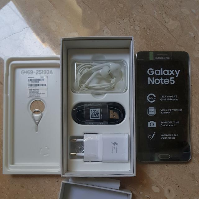 SAMSUNG GALAXY NOTE 5 64GB DUAL SIM SILVER