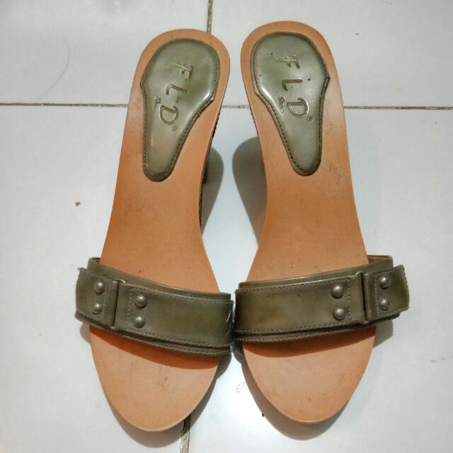 Sandal Heels Fld Abu Abu
