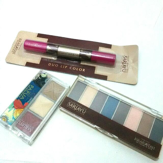 Sari Ayu: Duo Lip Color; Eye Shadow Kit (2)