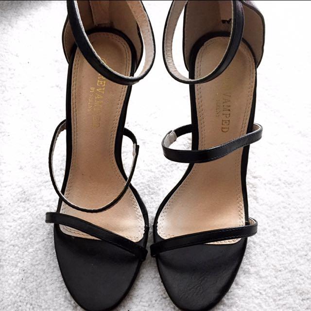 Scrappy Black Heels