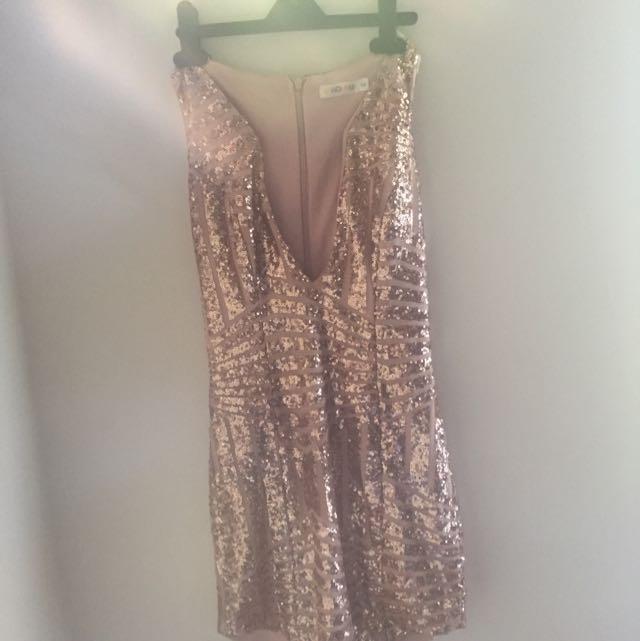 Sequen Dress Rose Gold