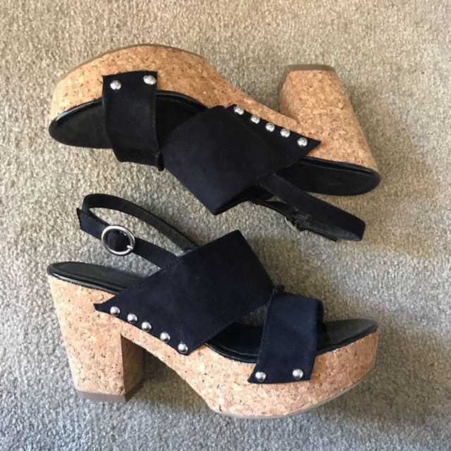 Size 6 Novo Cork Wedge Heel