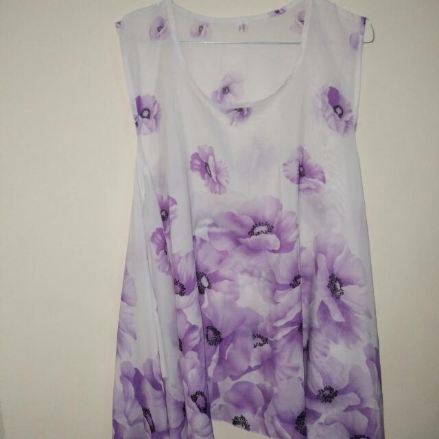 Skirt Flower Purple
