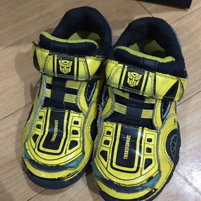Stride Rite Transformers Bumblebee Rubber Shoes
