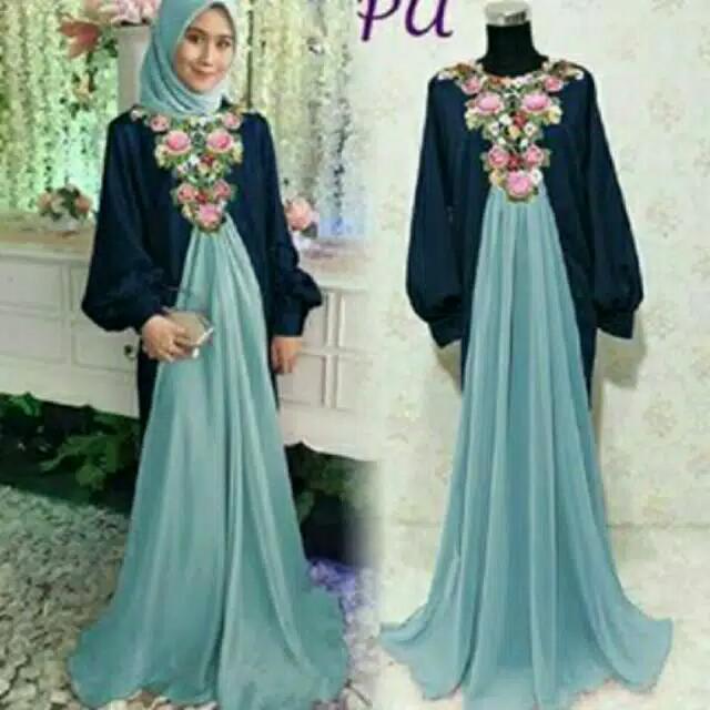 Thalisa Maxy Dress Pesta Hijab Muslim Ori By Pu Pop Up Women S
