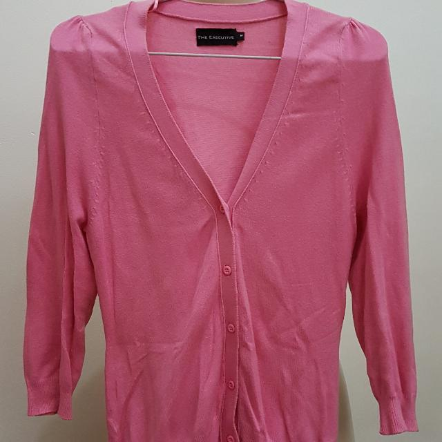 The Executive Cardigan Pink