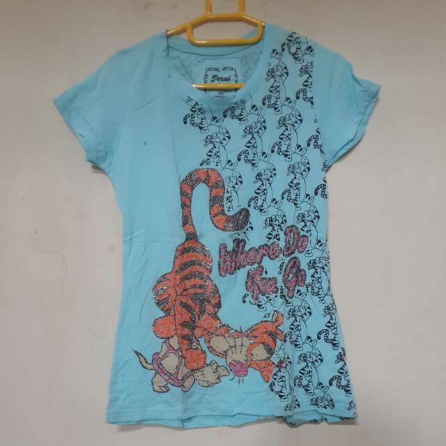 Tiger Blue Shirt