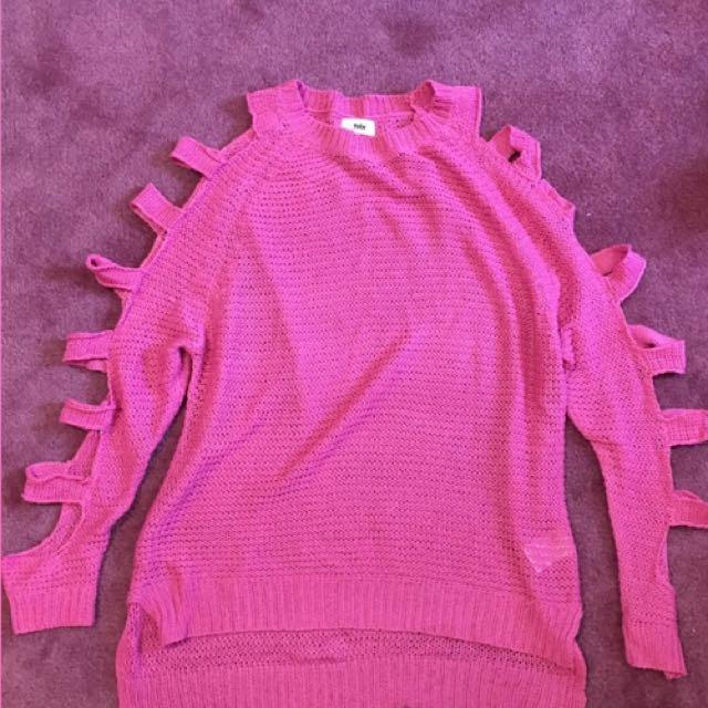 TOBI Pink Knit Sweater