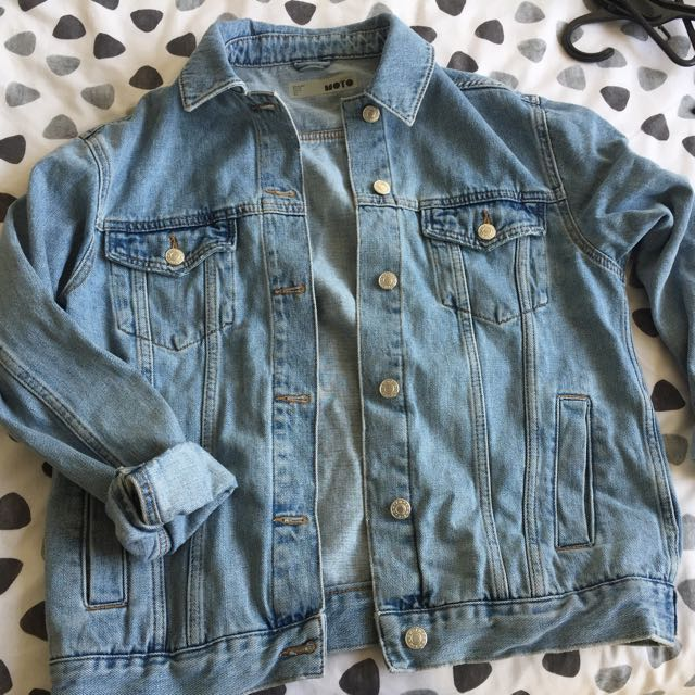 Topshop Moto Denim Jacket Basically New!