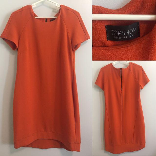 Topshop Orange Dress