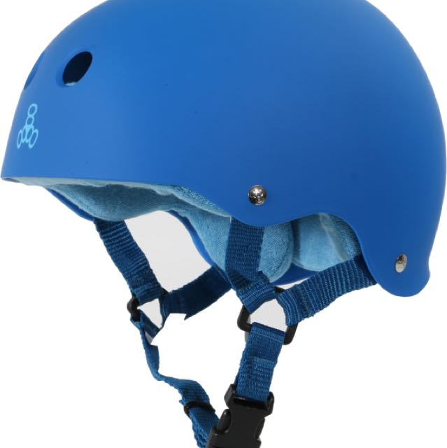 NEW Triple Eight NYC Sweatsaver Blue Rubber Finish Helmet