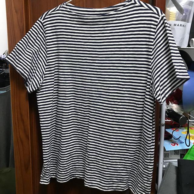 Uniqlo 橫條上衣 XL