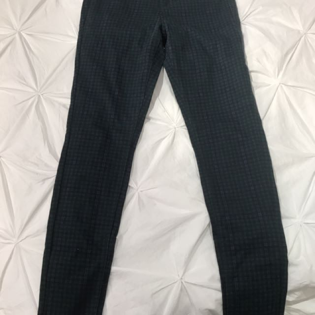 Uniqlo Plaid Jeggings (M)