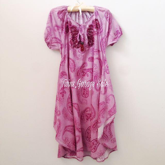 Vintage Long Dress Motif Batik