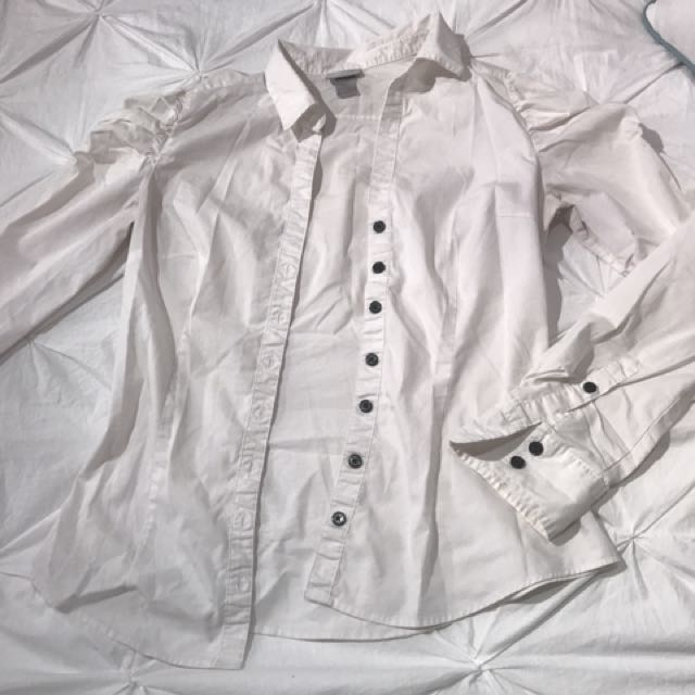 White H&M Dress Shirt (size 6)