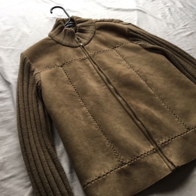 Cafe Brand Brown Lined Jacket