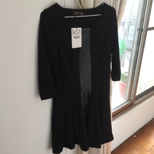 Zara 黑色小洋裝(全新)