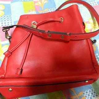 Authentic Topshop Bucket Bag - Red Orange
