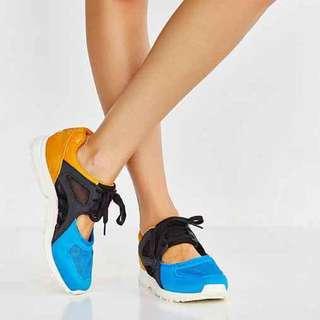 Adidas EQT racer og 藍 橘 鞋