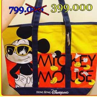 Hongkong Disneyland Mickey Tote Bag