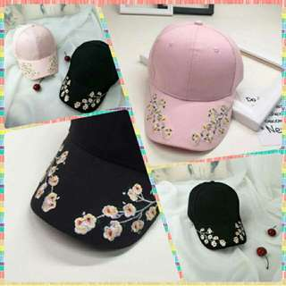 Floral Embroidery Cap