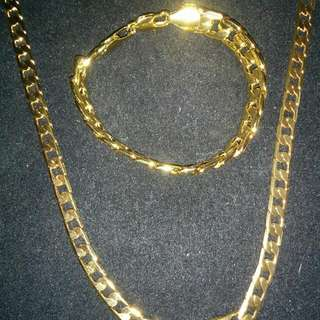 18K Gold FILLED Chain and Bracelet