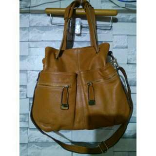 leather 2 in 1 bag