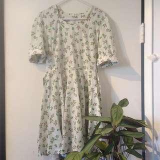tie up vintage dress