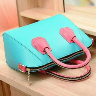 Candy Color Pu Leather Tote Bag
