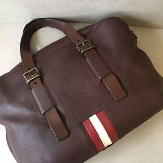 Authentic Bally Unisex Leather Briefcase