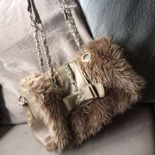 Faux Fur Fluff Handbag