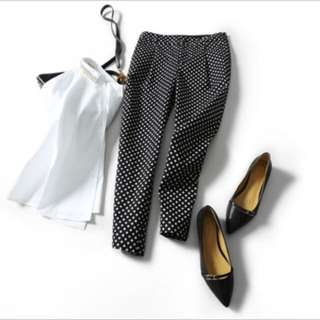 #thecafe Brand New Black With White Dots Pants