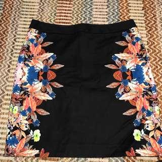 Black Marcs Skirt with Floral Details