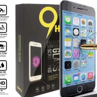 iPhone 6/6s/6PLUS/6sPLUS/7/7PLUS TEMPERED GLASS SCREEN PROTECTORS
