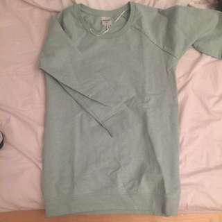 Teal/Blue Monki Crewneck Sweater