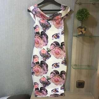 Shoulder Bodycon Midi Dress By.Charlotte Russe, Ori 🌹