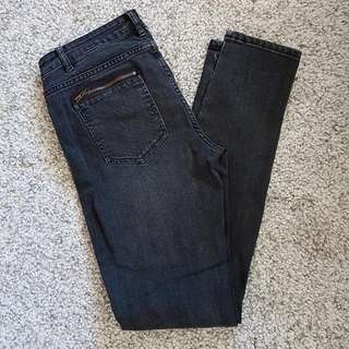 Sussan Size 10 Straight Skinny Black Jeans