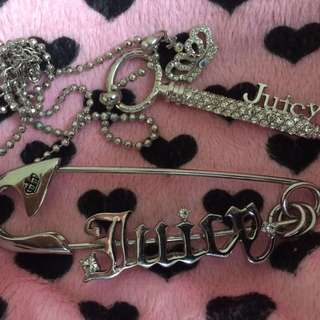 Juicy Couture Pin And Necklace