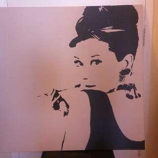 Portrait of Audry Hepburn