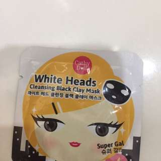 white head cleansing black clay mask