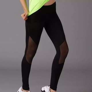 New Black On Black Yoga Mesh Pant