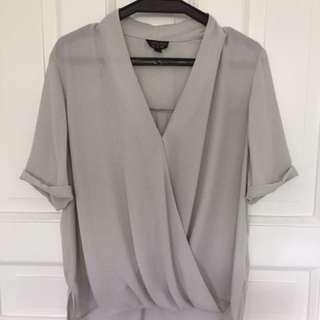 Topshop Light Gray Blouse