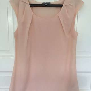 Gap Light Peach Sleeveless Blouse