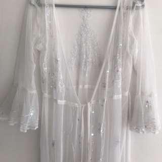 Tree Of Life Lace Kimono M-L