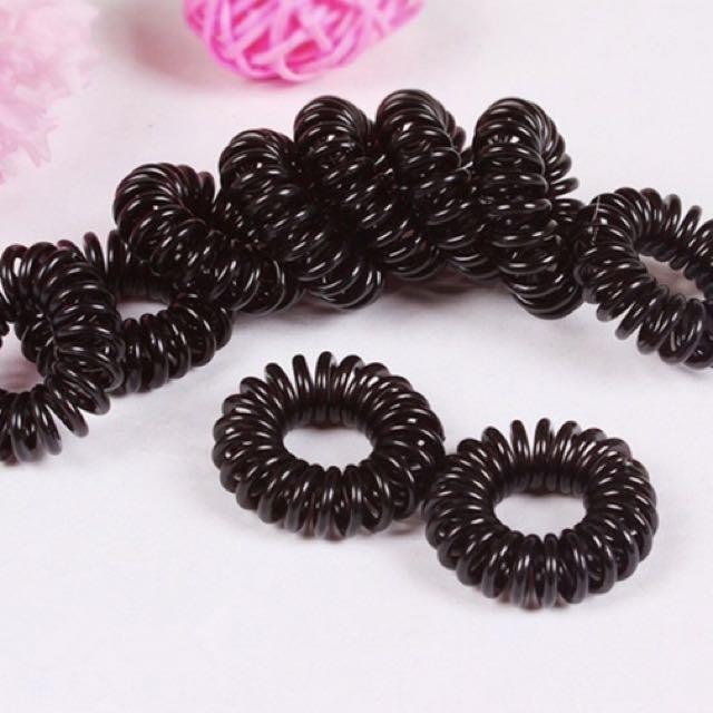 10 PCS Black Elastic Girl Rubber Hair Ties Bands Headband Rope