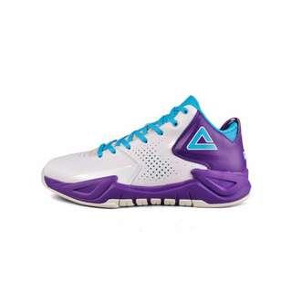 整月1250 匹克 PEAK 戰神 球員版 籃球鞋 Parker 白/紫 黑/紅 EUR45(27.5CM)