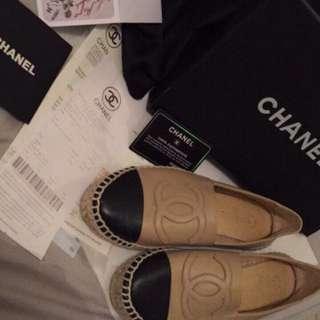 Chanel espadrilles   Size 38