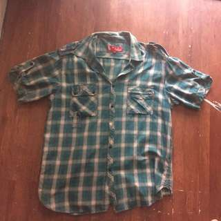 Authentic Brand Checkered Polo